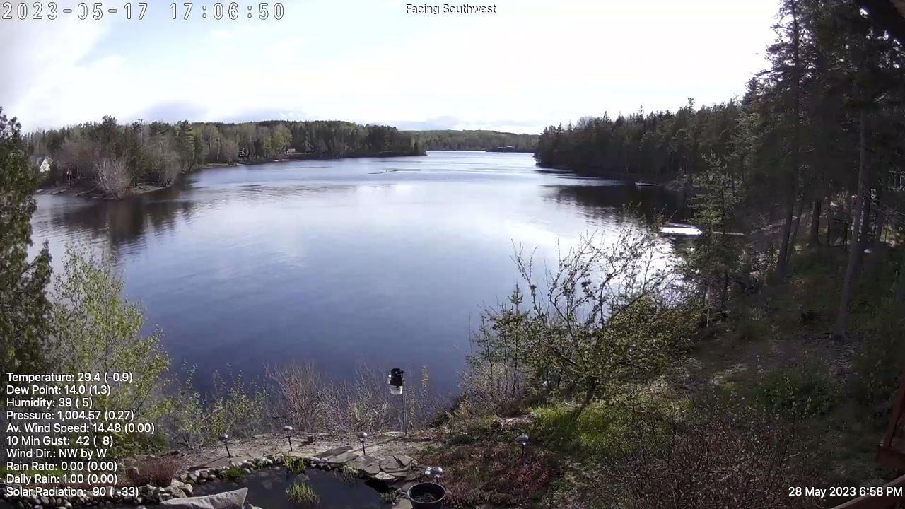 Web Cam image of Flowers Cove (Grand Lake)