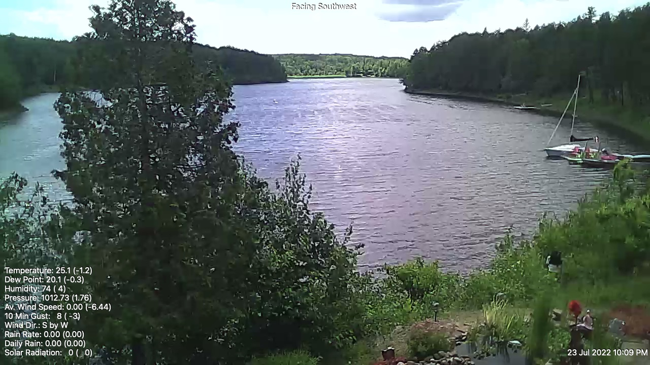 Web Cam image of Flowers Cove (Grand Lake)